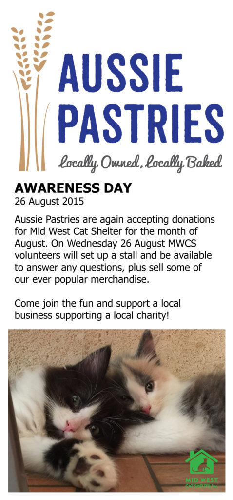 Aussie Pastries Awareness Day Aug 2015